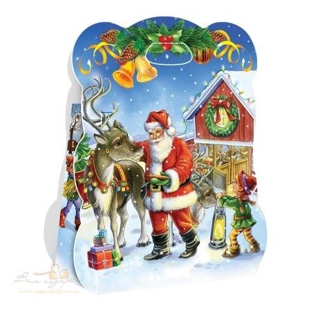 Новогодняя упаковка «Санта с оленем»