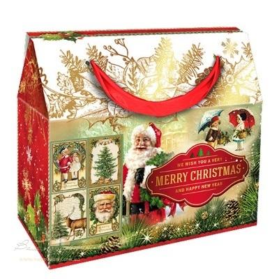 Новогодняя упаковка «Сумка Merry christmas», 1000г