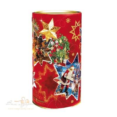 Новорічна упаковка «Тубус зірочка»
