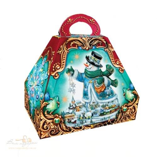 Новогодняя упаковка «Сундук бирюза»