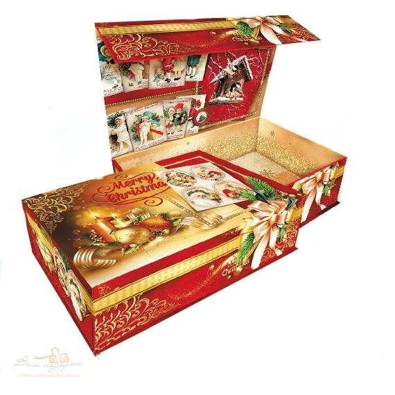 Новогодняя упаковка «Шкатулка» с магнитом