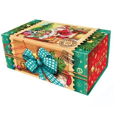 Новогодняя упаковка «Шкатулка зеленая»