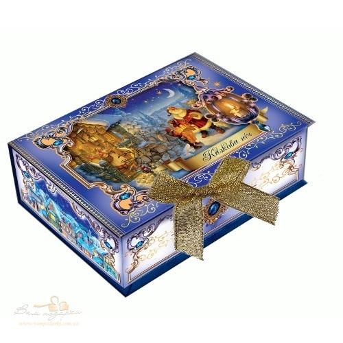 Новорічна упаковка «Шкатулка синя»