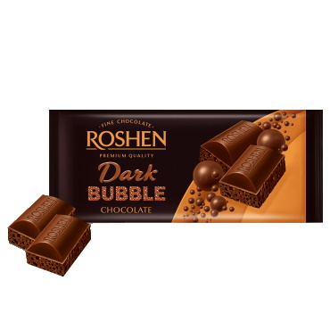 Шоколад «Roshen» пористий екстрачорний, 80 г