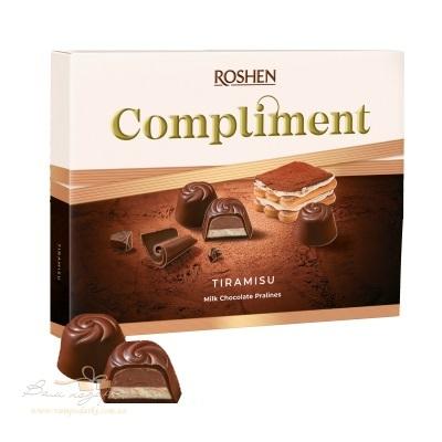 Цукерки в коробці Roshen «Compliment» зі смаком Tiramisu, 120г