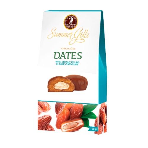 Цукерки «Summer Gifts» фінік крем-бренді в шоколаді, 100г