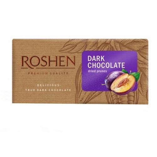 Шоколад «Roshen» чорний з чорносливом, 90г
