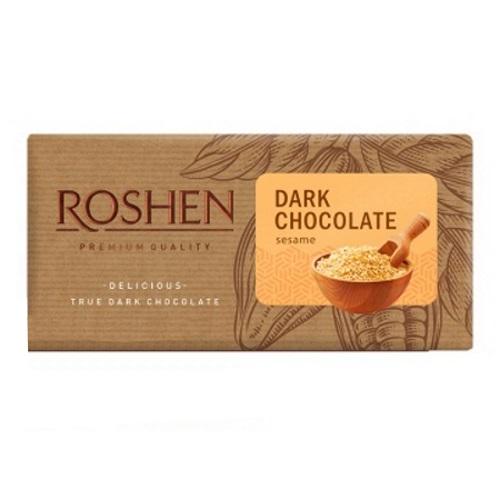 Шоколад «Roshen» черный с сезамом, 90г