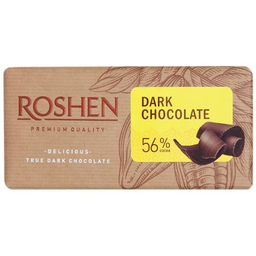 Шоколад «Roshen» черный 56%, 90г