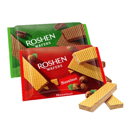 Вафли «Wafers» орех Roshen, 72г