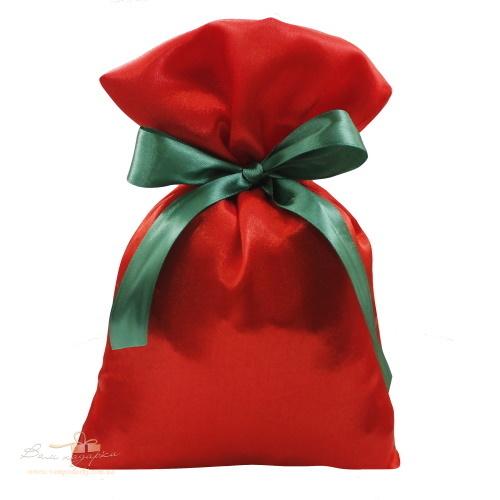 Подарочный мешочек из креп-сатина красный, КС-3