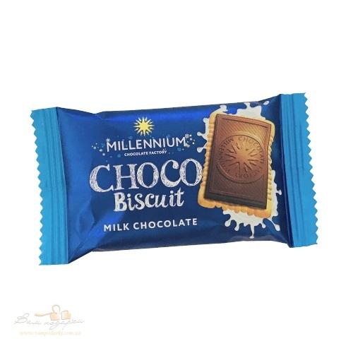 Шоколад молочный Millenium Choko Biscuit с печеньем, 15г