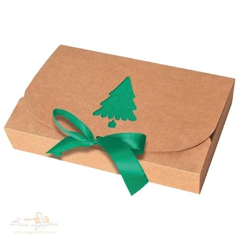 Новорічна коробка з крафту «Ялинка», 1000г