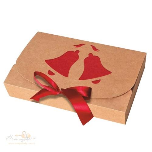 Новогодняя упаковка из крафта «Колокольчик» 260*160*67, 1000г
