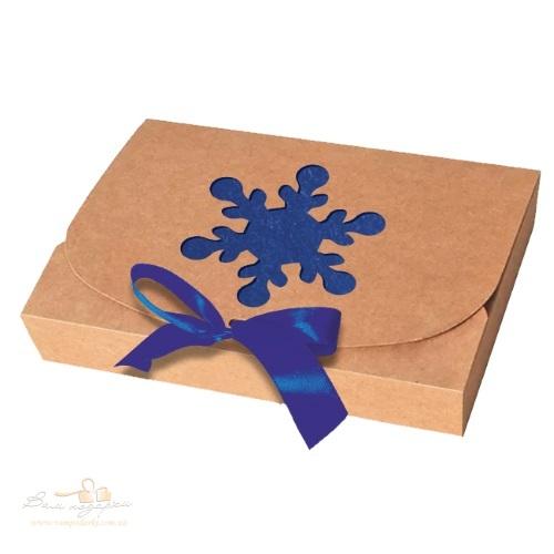 Новорічна дизайнерська упаковка з крафту «Ялинка», 260*160*67