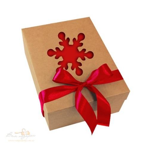 Новогодняя коробка из крафта «Снежинка», 800г