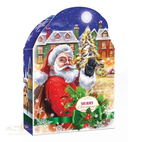 Новорічна упаковка «Санта у місті», 600г