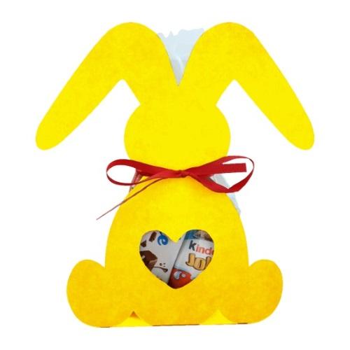 Фигурная упаковка «Веселый зайка» желтый, 200г