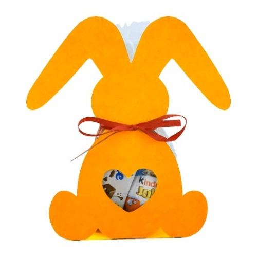 Фигурная упаковка «Веселый зайка» оранжевый, 200г
