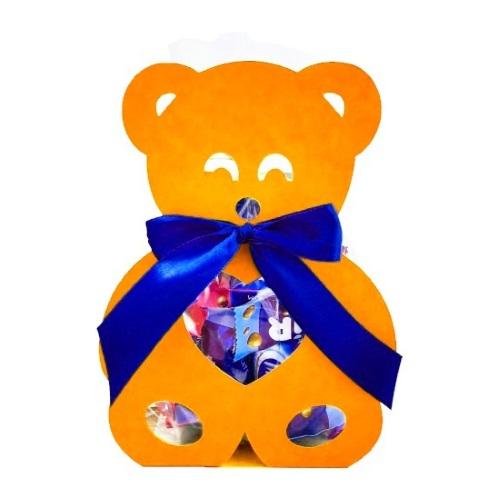 Фигурная упаковка «Медвежонок» оранжевый, 200г