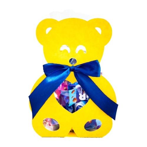 Фігурна упаковка «Ведмежатко» жовтий, 200г