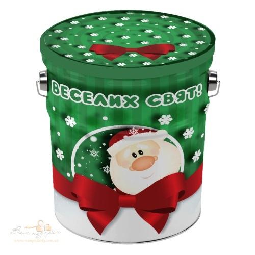 Новогоднее жестяное ведерко «Дед Мороз»
