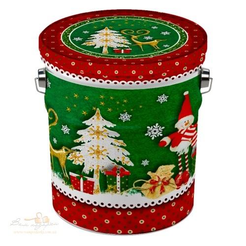Новогоднее жестяное ведерко «Скрапбукинг», 1000г