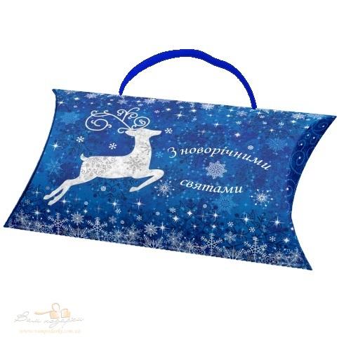 Новорічний конверт синій «Олень»