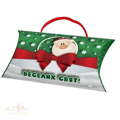 Новогодний конверт зеленый «Дед Мороз», 550г