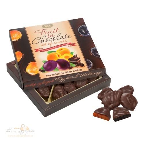 Конфеты в коробке ХБФ «Фрукты в шоколаде», 300г
