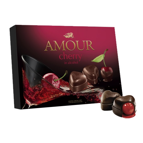 Конфеты в коробке Конти «Amour» cherry, 151г