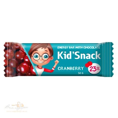 Энергетический батончик «Kid'Snack» клюква, 30г