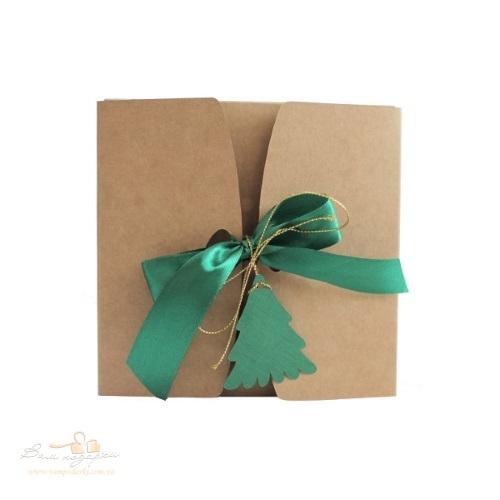 Подарункова упаковка з крафту Ялинка 150*150*70, 500г