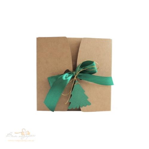 Подарочная упаковка из крафта Елочка 120*120*55, 200г