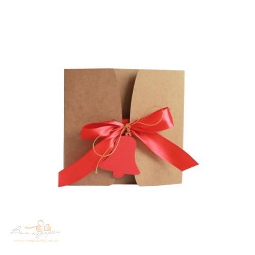 Подарочная упаковка из крафта Колокольчик 120*120*55, 200г