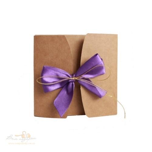 Подарочная коробка из крафта фиолет, 200г