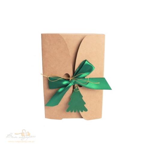 Подарункова упаковка з крафту Ялинка, 195*130*50, 300г