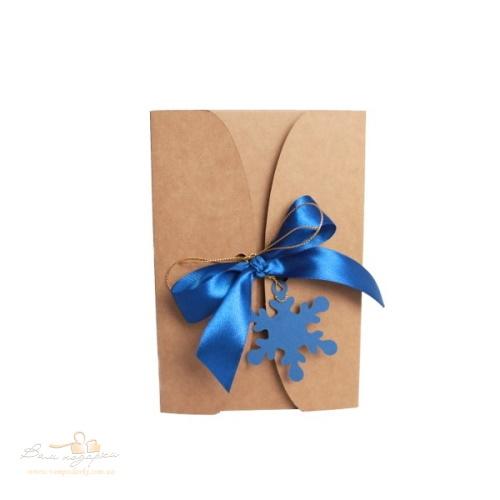 Подарункова упаковка з крафту Сніжинка, 195*130*50, 300г