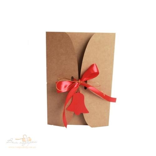 Подарочная коробка из крафта Колокольчик, 300г