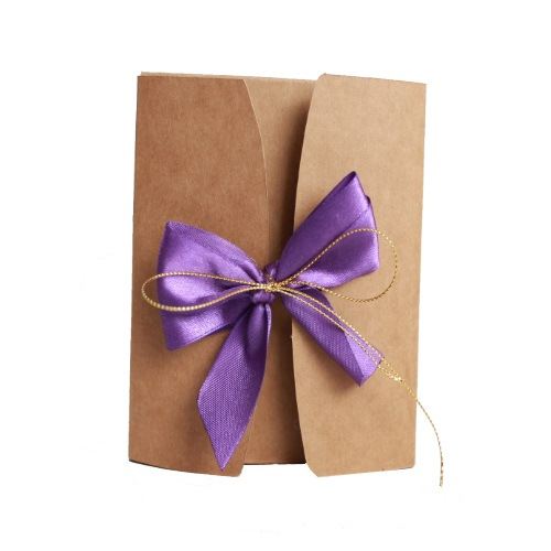 Подарочная коробка из крафта  фиолет, 600г