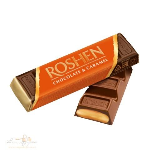 Батон «Roshen» молочно-шоколадный с карамельной начинкой, 40 г