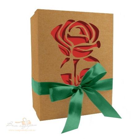 Коробка из крафта «Роза алая», 210*160*95