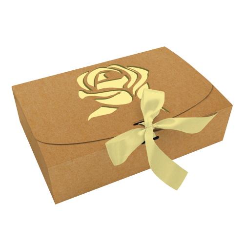 Коробка из крафта «Роза», 260*160*67
