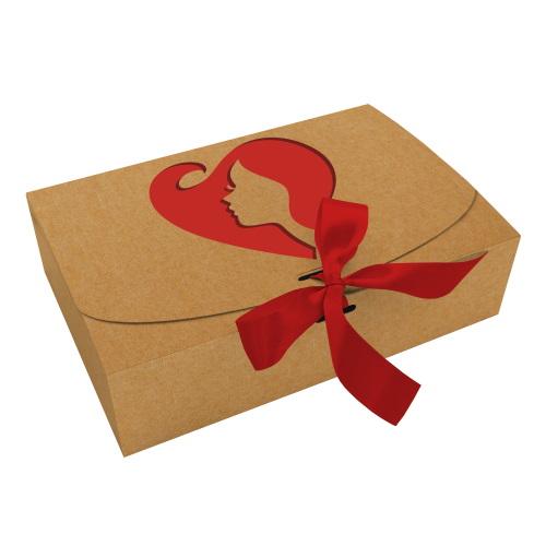 Коробка из крафта «Силуэт», 260*160*67