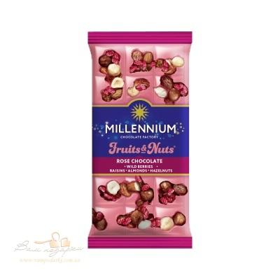 Шоколад Rose Millennium Fruits & Nuts с миндалем, лесным орехом, ягодами и изюмом 80г