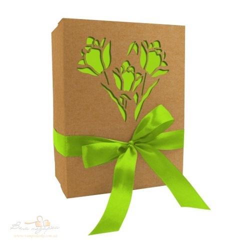 Коробка з крафту «Тюльпан», 210*160*95