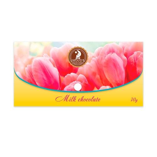 Шоколад «Клатч» молочний (квіти),  70г