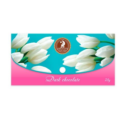 Шоколад «Клатч» черный (цветы),  70г