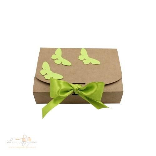 Коробка из крафта с бабочками 130*85*35, 100г