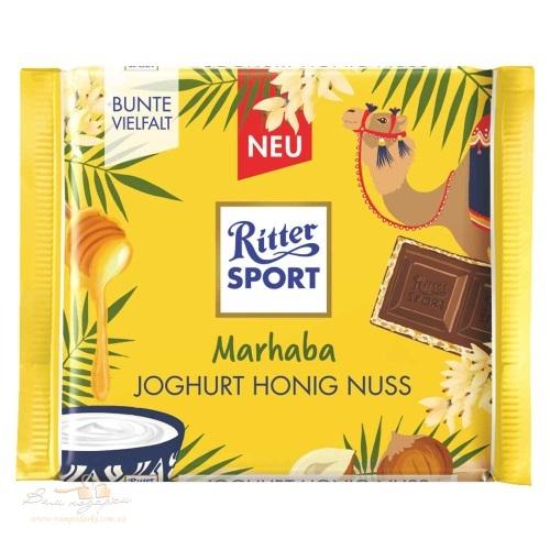 Ritter Sport – Молочный шоколад с начинкой йогурт-фундук-мед, 100г